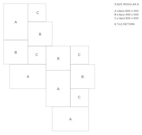 Pattern: 3 Size Modular A - Natural Stone Tiling Layouts   LASCO ...