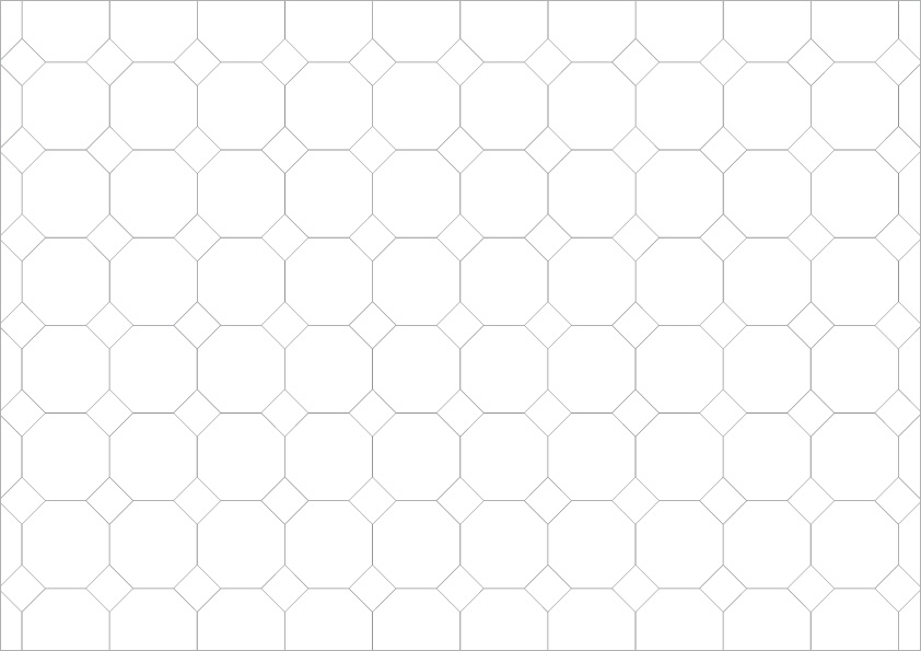Pattern: Octagon Tile with Insets - Natural Stone Tiling Layouts ...
